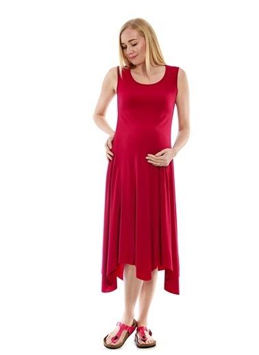 Motherway Maternity Elbise Fuşya